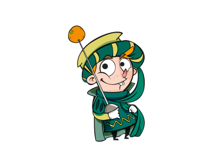Orange Battle Gioco: uno dei personaggi, l'Abbà